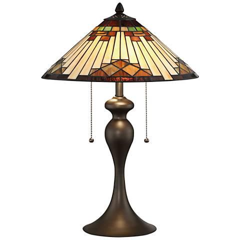 Lite Source Creason Tiffany Art Nouveau Accent Table Lamp