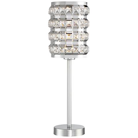 Lite Source Valerie Chrome Metal Accent Table Lamp