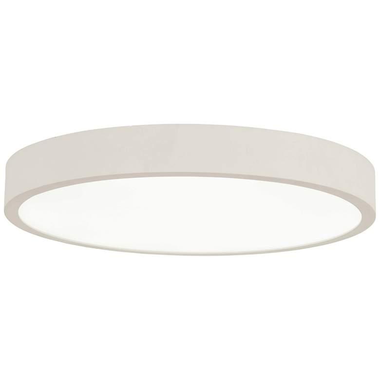 """George Kovacs Ugo 28 1/2"""" Wide Sand White LED Ceiling Light"""