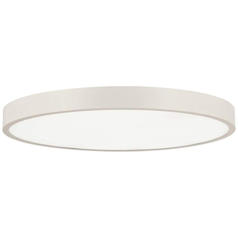 """George Kovacs Ugo 32 1/2"""" Wide Sand White LED Ceiling Light"""