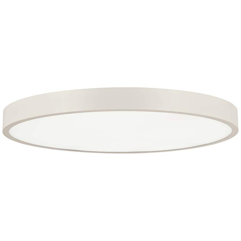 "George Kovacs Ugo 32 1/2"" Wide Sand White LED Ceiling Light"