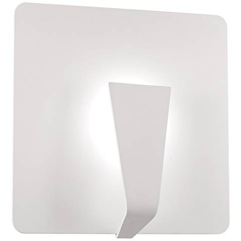 """George Kovacs Waypoint 13 3/4""""H Sand White LED Wall Sconce"""