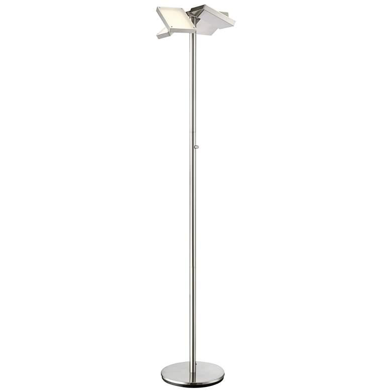 Lite Source Lampard Brushed Nickel LED Torchiere Floor Lamp