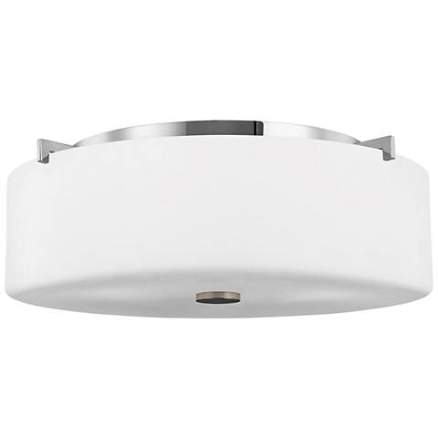 "Feiss Sunset Drive 16"" Wide Chrome Flushmount Ceiling Light"