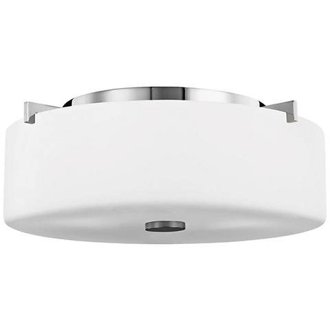 "Feiss Sunset Drive 13 1/2"" Wide Chrome Ceiling Light"