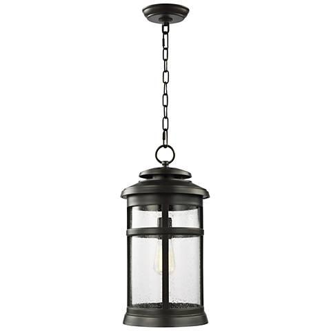 "Feiss Newport 18 1/2""H Antique Bronze Outdoor Hanging Light"