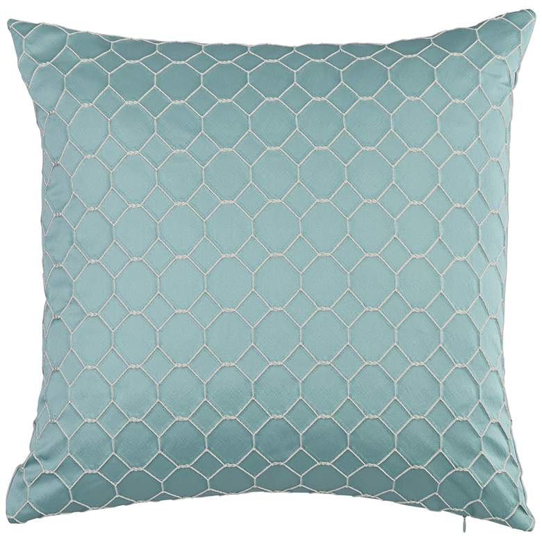 """Juno Cerulean 20"""" Square Throw Pillow"""
