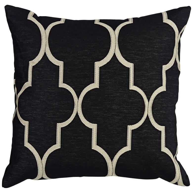 "Paxton Black 20"" Square Throw Pillow"