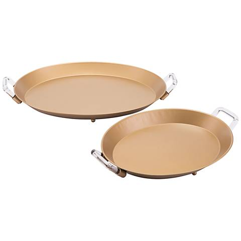 Zuo Gold Metal Tray Set Of 2
