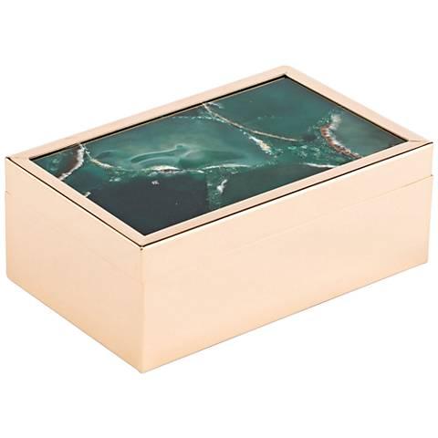 Zuo Small Green Stone Box