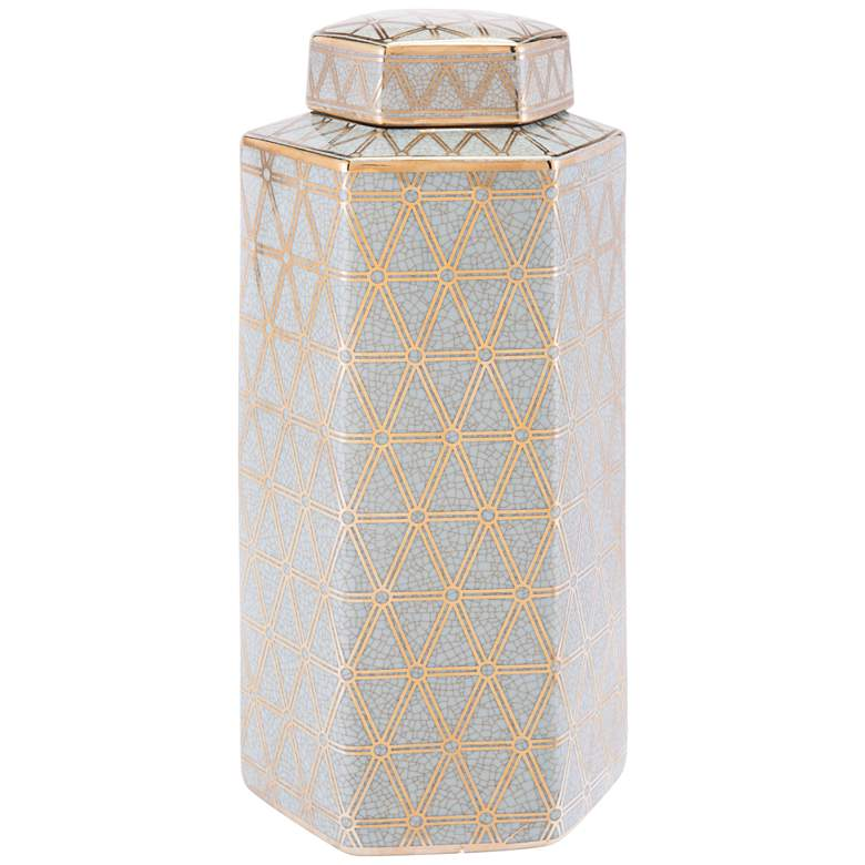 "Zuo Link 152 1/4"" High Gold and Blue Glam Luxe Jar"