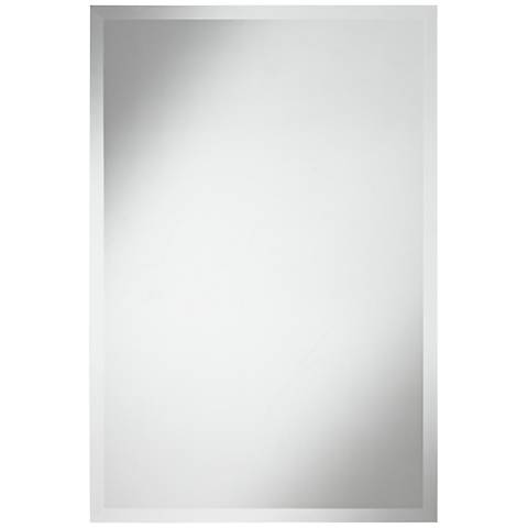 """Angelica Frameless 24"""" x 36"""" Beveled Rectangular Mirror"""