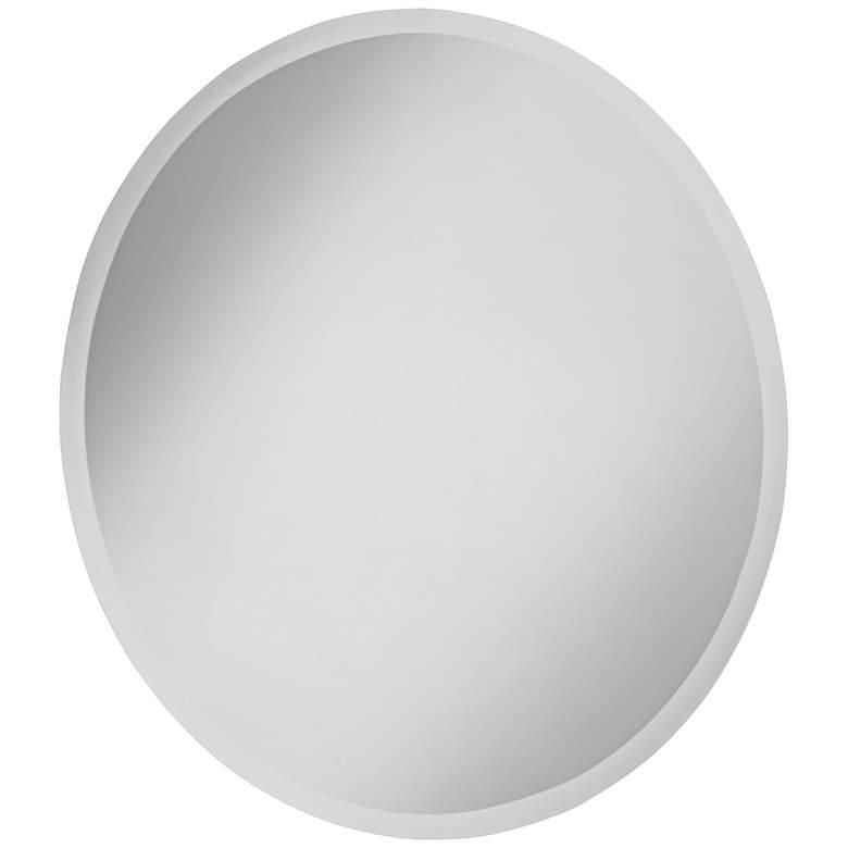 "Angelica Frameless 28"" x 32"" Beveled Oval Mirror"