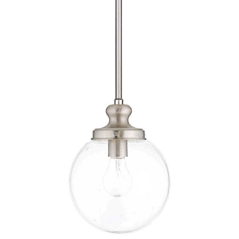 "Sheffield 8"" Wide Brushed Nickel Mini Pendant"