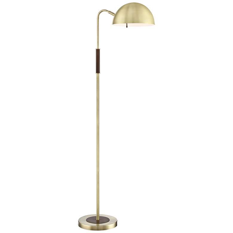 Lite Source Clouseau Antique Brass Buffet Floor Lamp