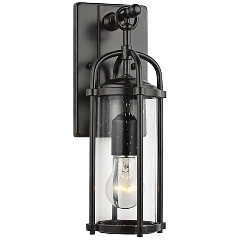 """Feiss Dakota 16 3/4"""" High Espresso Outdoor Wall Light"""