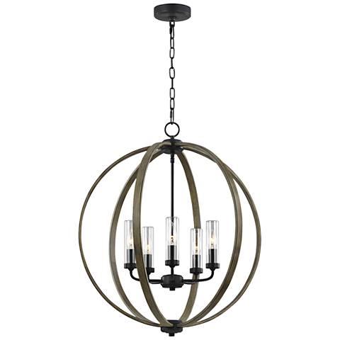 Allier 28 high wood iron outdoor hanging chandelier light 56n34 new allier 28 high wood iron outdoor hanging chandelier light aloadofball Images