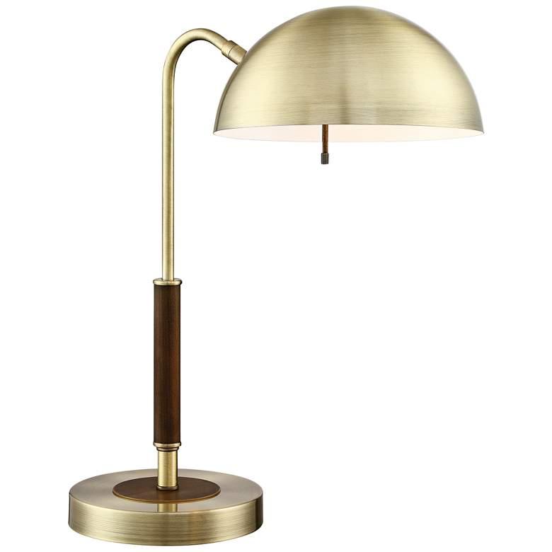 Lite Source Clouseau Antique Brass Metal Desk Lamp