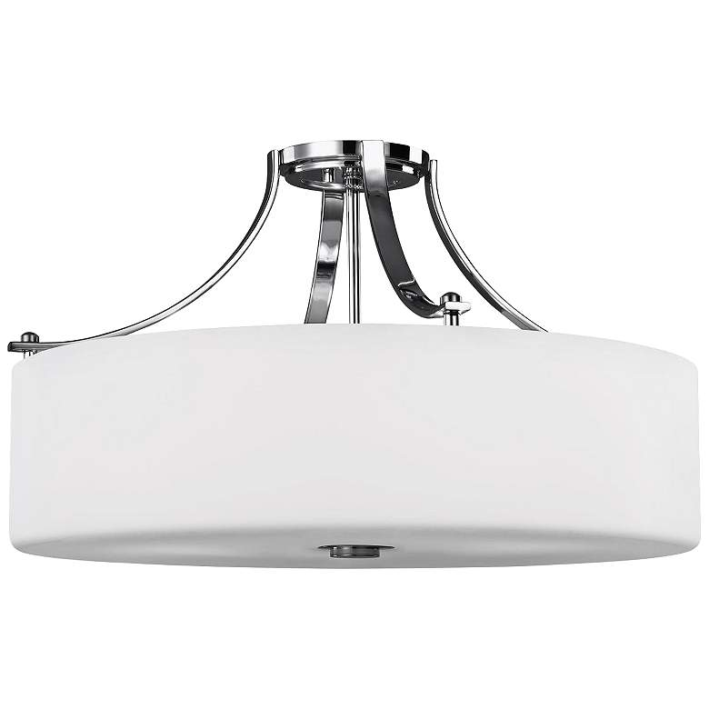 "Feiss Sunset Drive 22"" Wide Chrome Ceiling Light"