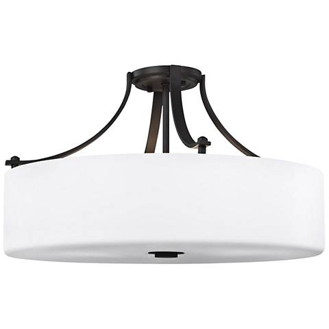 "Sunset Drive 22"" Wide Oil-Rubbed Bronze Ceiling Light"