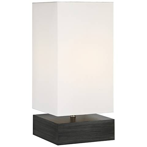 Lite Source Serina Charcoal Wood Accent Table Lamp