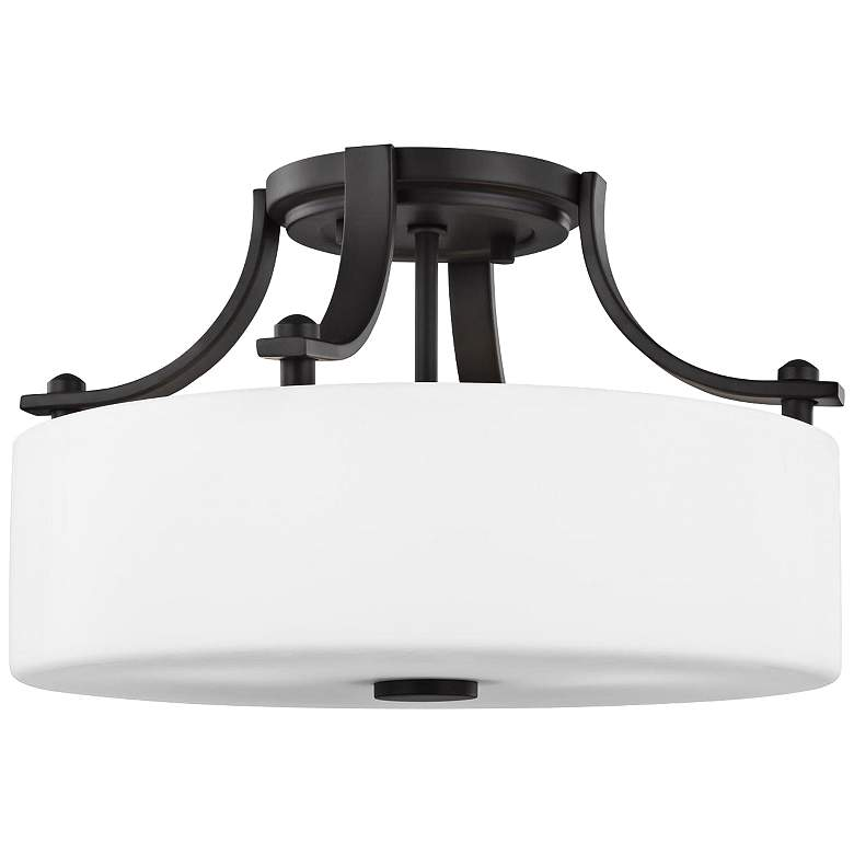 "Feiss Sunset Drive 13""W Oil-Rubbed Bronze Ceiling Light"