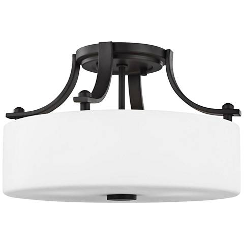 """Feiss Sunset Drive 13""""W Oil-Rubbed Bronze Ceiling Light"""