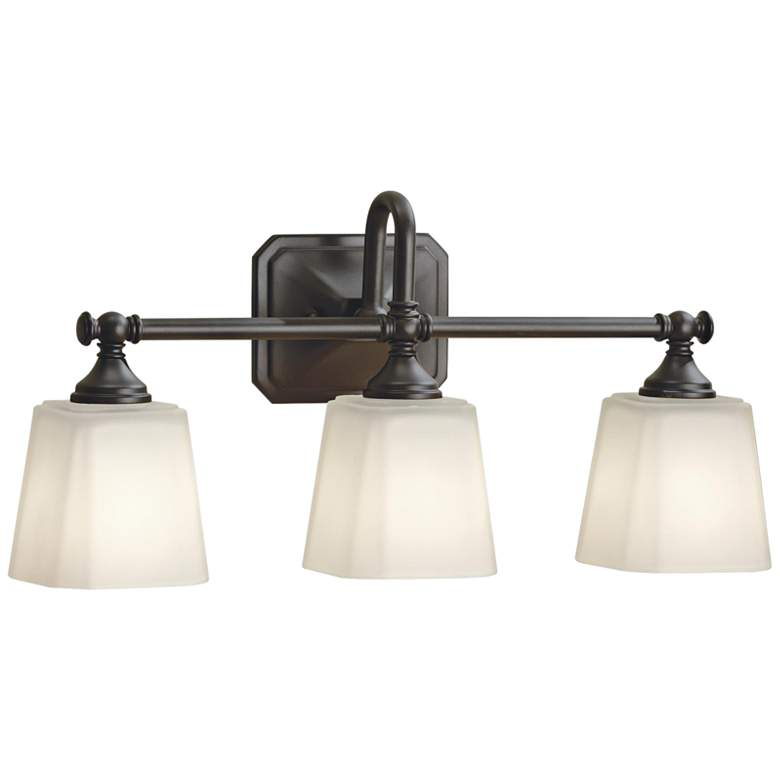 "Feiss Concord 21"" Wide Oil-Rubbed Bronze 3-Light Bath Light"