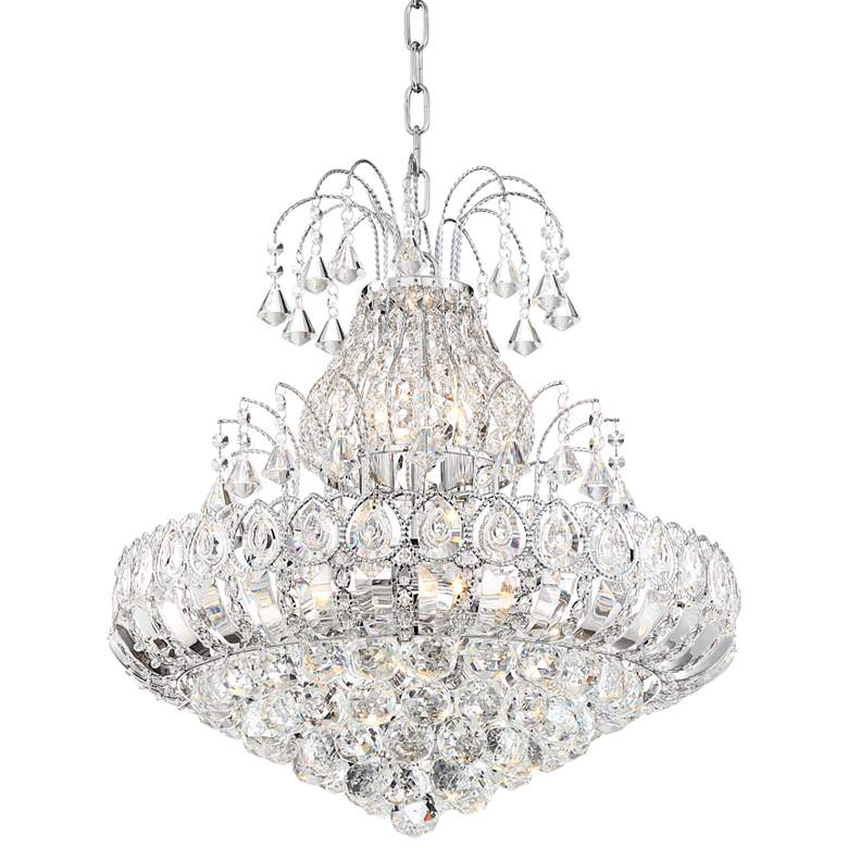 """Calylah 21 1/2"""" Wide Chrome and Crystal Chandelier"""