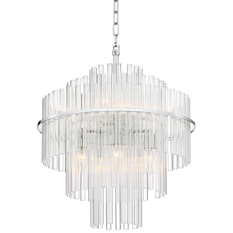"Katya 19 1/2"" Wide Chrome and Clear Acrylic Glass Pendant"