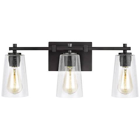 """Feiss Mercer 21 1/2""""W Oil-Rubbed Bronze 3-Light Bath Light"""