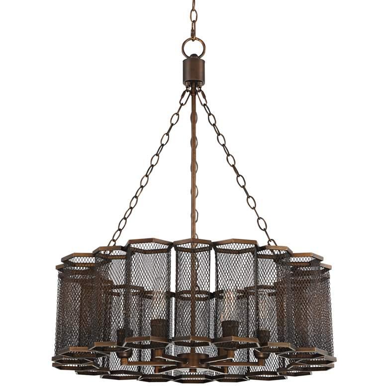 "Prestly 27 1/2"" Wide Bronze Iron 6-Light Pendant"