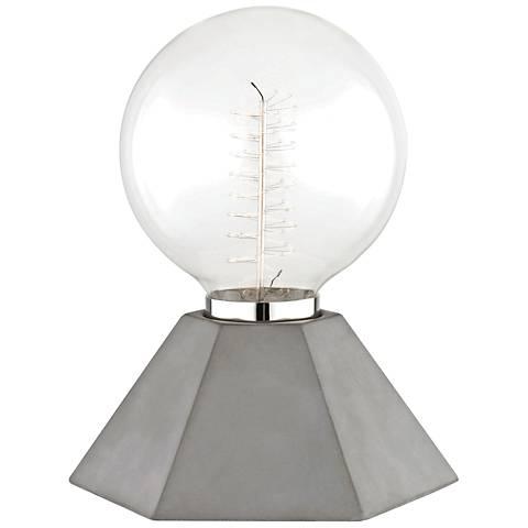 "Mitzi Lynn 8 1/4"" High Concrete Accent Table Lamp"