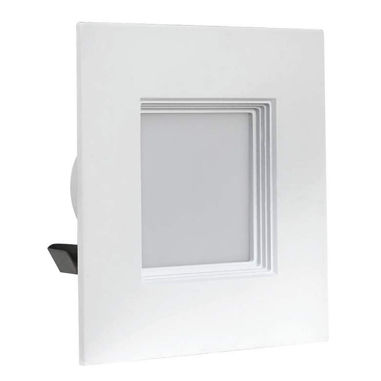"4"" Feit Baffle White 9 Watt Square JA8 LED Retrofit Trim"