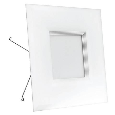 "6"" Feit Baffle White 11W Square LED Retrofit Trim"