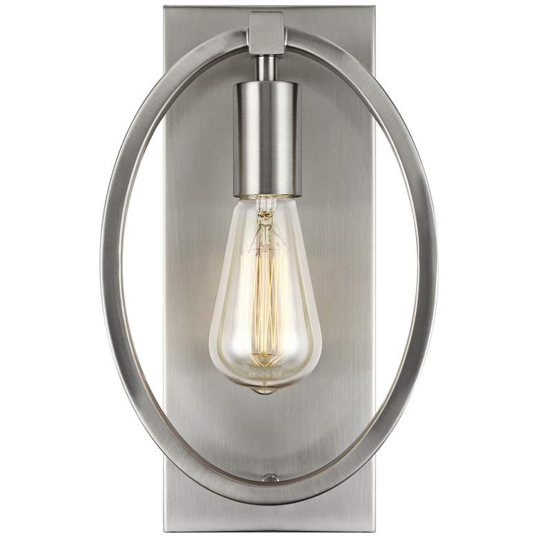 "Feiss Marlena 12 1/2"" High Satin Nickel Wall Sconce"