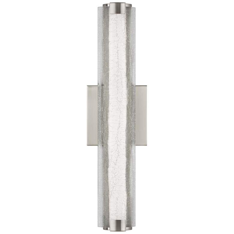 "Feiss Cutler 18"" High Satin Nickel LED Wall Sconce"