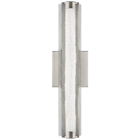 """Feiss Cutler 18"""" High Satin Nickel LED Wall Sconce"""
