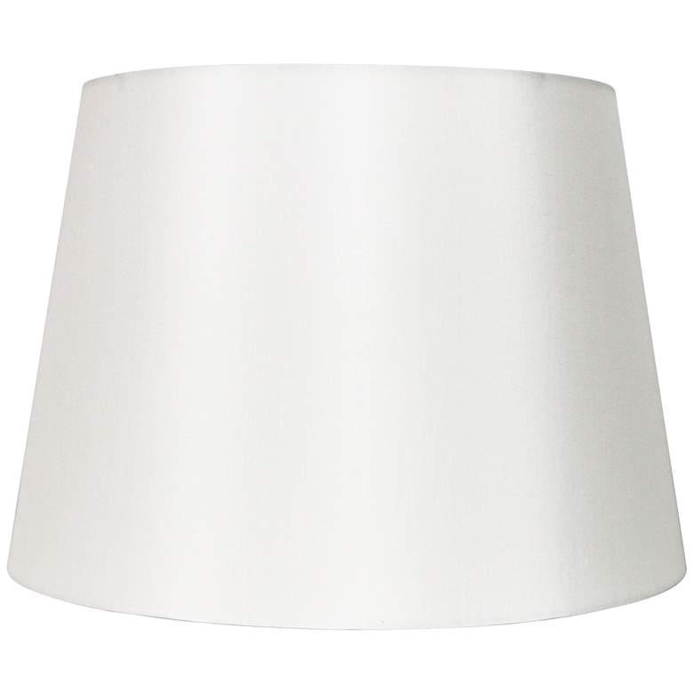 Off-White Silk Drum Hardback Lamp Shade 11x14x10 (Spider)