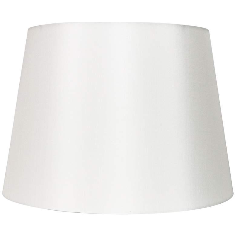 Off-White Silk Drum Hardback Lamp Shade 13x16x10 (Spider)