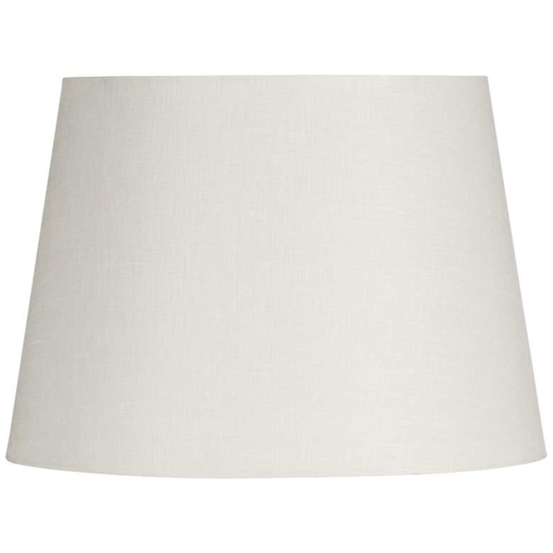 Off-White Linen Drum Hardback Lamp Shade 5x7x5 (Spider)