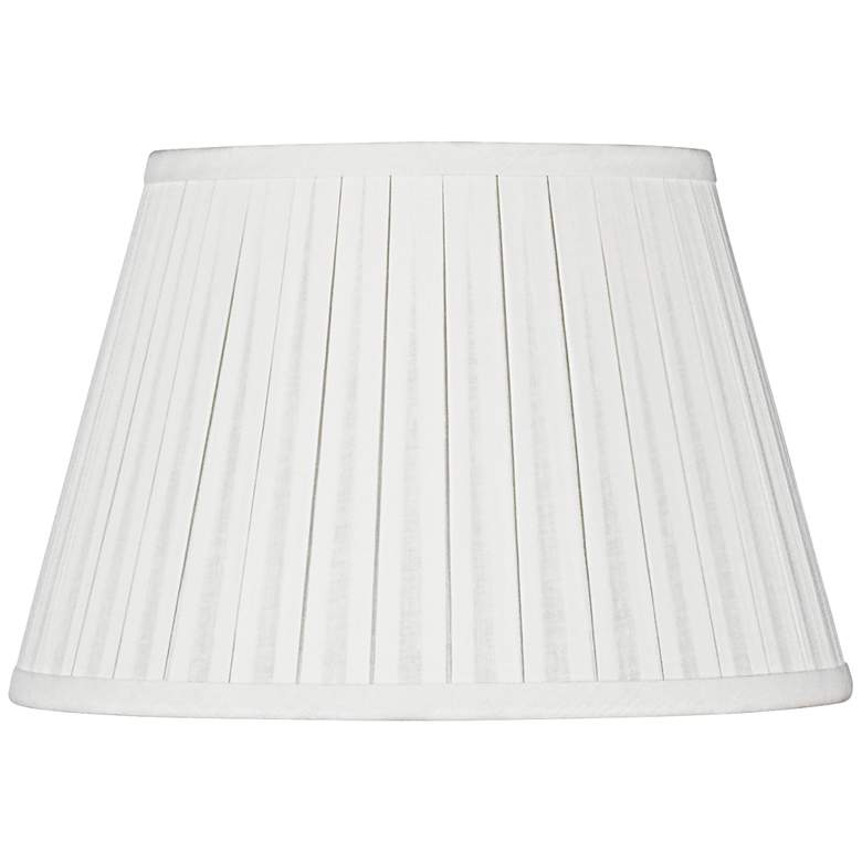 Off-White Empire Box Pleat Lamp Shade 10x16x10 (Spider)