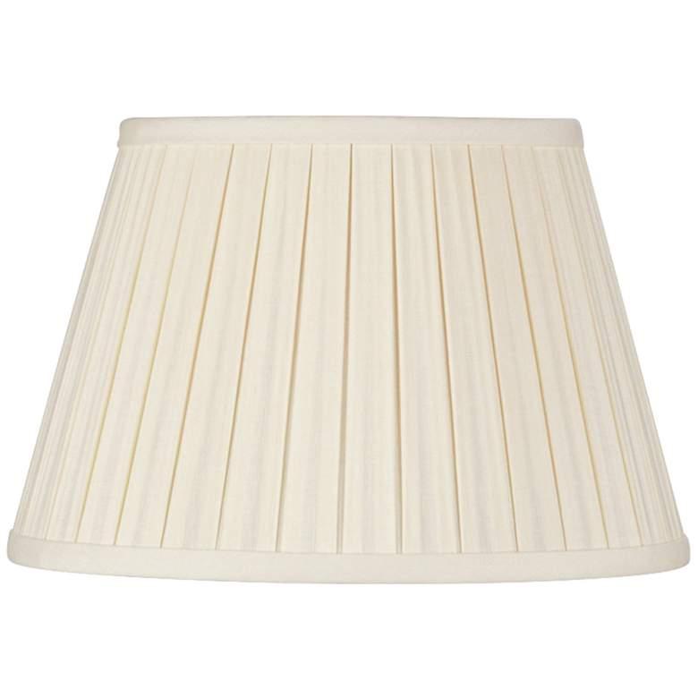 Eggshell Linen Empire Box Pleat Lamp Shade 10x14x10