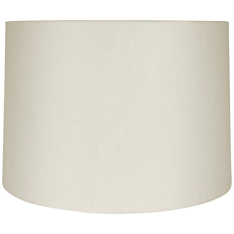 Eggshell Linen Round Drum Lamp Shade 11x12x10.5 (Spider)