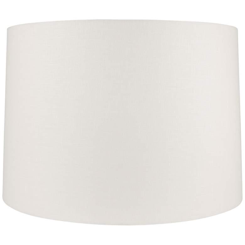Off-White Linen Round Drum Lamp Shade 11x12x10.5 (Spider)