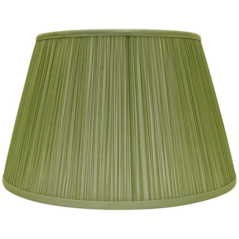 Green Silk Empire Shirred Lamp Shade 10x14x10 (Spider)