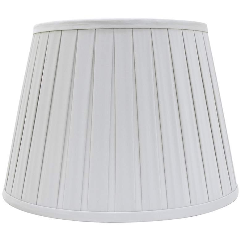 Gray Cloud Empire Box Pleat Lamp Shade 8x12x8