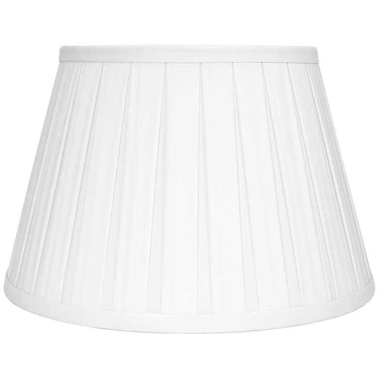 Ivory Faux Silk Empire Box Pleat Lamp Shade
