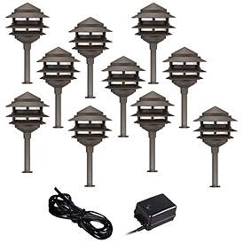 Low Voltage Landscape Lights Led Fixtures Kits Lamps Plus