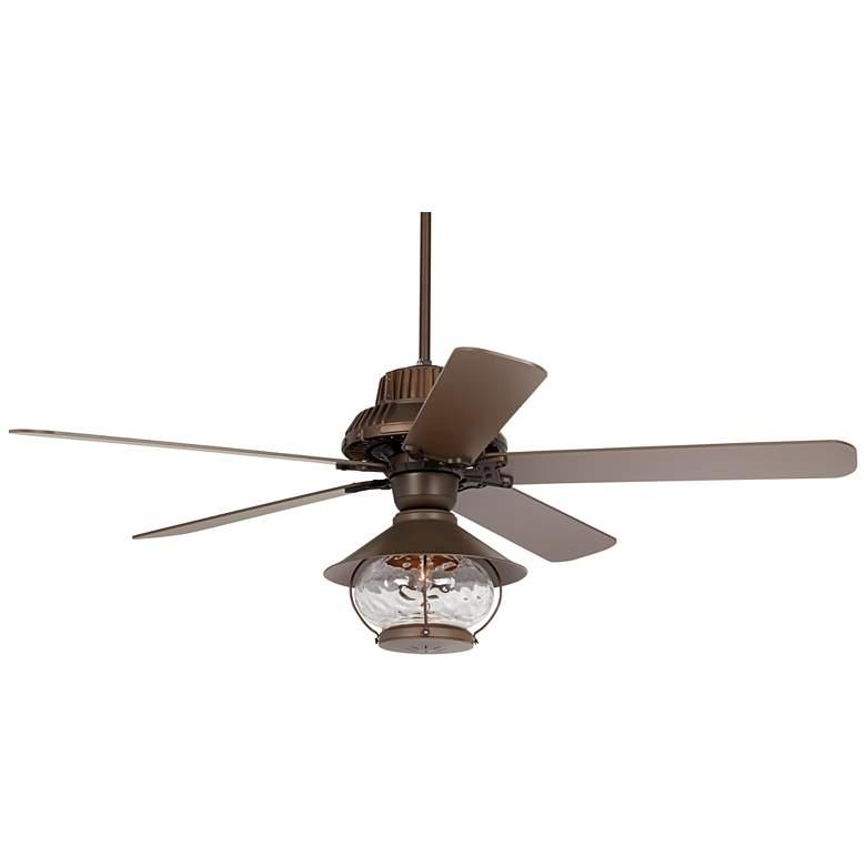 "60"" Industrial Forge Tropical Lantern Damp LED Ceiling Fan"